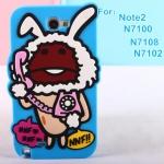Case Samsung Galaxy Note 2 NNF Nameko mushrooms Fang Ji เคสซิลิโคนเห็ดโคนแนวๆ แปลกๆ เคสมือถือราคาถูกขายปลีกขายส่ง