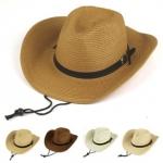 [พร้อมส่ง] CBH5459 หมวกคาวบอย / หมวกปานามา ตกแต่งด้วยสายคาดหนัง แบบเท่ห์ๆ Cowboy Hat
