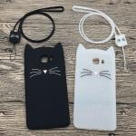 เคส Samsung C9 Pro ซิลิโคน soft case น้องแมวสุดิ้งน่ารักมากๆ ราคาถูก (สายคล้องแล้วแต่ร้านจีนแถมหรือไม่)