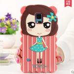 เคส S5 Case Samsung Galaxy S5 ซิลิโคนเด็กผู้หญิงแสนหวานน่ารักแนวคุณหนู ร่าเริง สดใส ราคาส่ง ราคาถูก ราคาปลีก