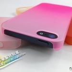 case iphone 5 เคสไอโฟน5 เคสไล่เฉดสีกึ่งใส เคสแนวๆแปลกๆ มีหลายสีให้เลือก