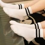 [พร้อมส่ง] S6766 ถุงเท้าขาวดำ สไตล์ญี่ปุ่น Japan Style