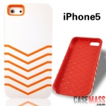case iphone 5 เคสไอโฟน5 เคสคาดลายเส้น แนวสปอร์ต two-color line shell phone