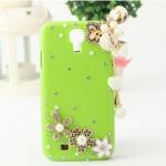 เคส S4 Case Samsung Galaxy S4 i9500 เคสประดับเพชรคริสตัล มุก ดอกไม้ ติดตัวการ์ตูนน่ารักๆ มีสายห้อยตุ้งติ้งสวยๆ
