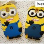case note 3 เคส Samsung Galaxy note 3 มินเนี่ยน ซิลิโคน 3D despicable me เคสมือถือราคาถูกขายปลีกขายส่ง -B-