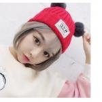 [พร้อมส่ง] H7639 หมวกไหมกันหนาว มีหูหมี สุดน่ารัก (มีสีให้เลือกด้านใน)