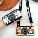 เคส OPPO A3s ซิลิโคนรูปกล้องถ่ายรูปสุดน่ารัก ตรงเลนส์สามารถยืดออกมาตั้งได้ พร้อมสายคล้อง ราคาถูก