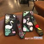 เคส iPhone 7 (4.7 นิ้ว) พลาสติกลายนกฟลามิงโกแสนสวย พร้อมที่คล้องเข้าชุด คุ้มมากๆ ราคาถูก