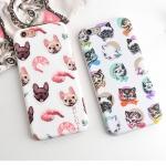 Case iPhone 6s Plus,6 Plus (5.5 นิ้ว) พลาสติกลายน้องหมา น้องแมวแสนน่ารัก ราคาถูก