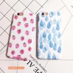 Case iPhone 6s, iPhone 6 (4.7 นิ้ว) พลาสติกลายผลไม้และหยดน้ำ สวยหวานมาก ราคาถูก
