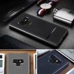 เคส Samsung Note 9 เคสเกาะหลังผิวกันลื่น ทำให้คล้ายหนัง+โลหะ เท่ๆ RUGGED ARMOR Ultimate Experience