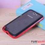 เคส Note 2 Case Samsung Galaxy Note 2 II N7100 ขอบเคส Bumper 2 ชั้น ชั้นในเป็นซิลิโคนนิ่มๆ หุ้มด้วยกรอบเคสพลาสติกดีไซน์สวยๆ border soft 719 cell phone protective cover case