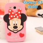 เคส s3 case Samsung Galaxy s3 เคสซิลิโคนมินนี่เม้าส์ น่ารักๆ ราคาส่ง ขายถูกสุดๆ -B-