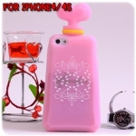 case iphone 4/4s เคสไอโฟน4/4s เคสซิลิโคน 3D ขวดน้ำหอมสีหวาน น่ารักๆ