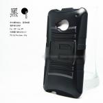 เคส HTC One M7 เคสกันกระแทกสวยๆ ดุๆ เท่ๆ แยกประกอบ 2 ชิ้น มีแผ่นพลาสติกกาง-หุบขาตั้งได้ ราคาถูก ราคาส่ง