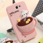 Case Samsung Galaxy Note 2 Molang เคสซิลิโคนลายการ์ตูนน่ารักๆ เคสมือถือราคาถูกขายปลีกขายส่ง