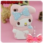 case iphone 4/4s เคสไอโฟน4/4s เคสซิลิโคน 3D My Melody น่ารักๆ