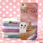 case iphone 5 เคสไอโฟน5 เคสซิลิโคน TPU ลายน้องแมวน่ารักๆ Life of cat British royal cat iPhone5 phone case TPU glitter