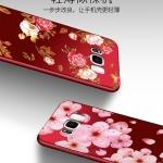 เคส Samsung S8 ซิลิโคนแบบนิ่ม สกรีนลายดอกไม้ สวยงามมากพร้อมสายคล้องมือ ราคาถูก (ไม่รวมแหวน)