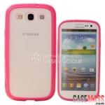 Case S3 Case Samsung Galaxy S3 i9300 เคสขอบนุ่มๆ หลังใส ขอบเป็นซิลิโคน TPU ด้านหลังโปร่งแสงด้านๆ สวยๆ transparent frosted silicone border mobile phone protective housing