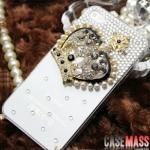 case iphone 5 เคสไอโฟน5 เคสประดับมงกุฎเพชรและมุกสวยๆ หรูหรา