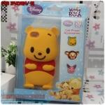 case iphone 4/4s เคสไอโฟน4/4s เคสซิลิโคน 3D น้องหมีพูน่ารักๆ มาพร้อมปุ่มกด 3 แบบด้วย cartoon 3D shell cute Winnie the Pooh silicone
