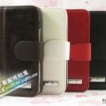 case iphone 5 เคสไอโฟน5 เคสกระเป๋าหนังเท่ๆ เรียบหรู Trendy S rhombus embossed leather