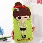 Case Huawei P8 Lite ซิลิโคน 3D สามมิติเด็กผู้หญิงน่ารักสดใสน่ารักมากๆ ราคาส่ง ราคาถูก ราคาปลีก