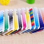 case iphone 5 เคสไล่เฉดสี ผิวเป็นประกายเกล็ดน้ำแข็ง แยกประกอบ 3 ชิ้นแบบสวมหัวท้าย สีสวยมากๆ