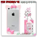 case iphone 4/4s เคสไอโฟน4/4s Bumper Disney Marie, Alice in wonderland, Alien, Minnie Mouse ขอบเคสซิลิโคน 3D น่ารักๆ