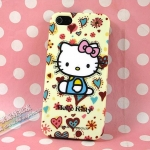 case iphone 5 เคสไอโฟน5 เคสซิลิโคน tpu ลาย คิตตี้สวยๆ หวานแหวว น่ารักๆ sanrio hello kitty iPhone5 phone Soft Shell TPU Silicone