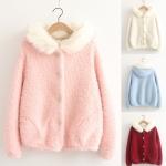 [Pre*order] MM5052 เสื้อกันหนาว แขนยาว บุขน ตกแต่งเฟอร์ที่หมวกฮู๊ด งานน่ารัก