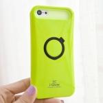 case iphone 5c เคสไอโฟน5c Korea iGlow เคสซิลิโคน 2 ชั้น มีขาตั้งวงกลมกางได้ หุบได้