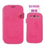 CASE Samsung Galaxy SIII (S3) Molang เคสกระเป๋าฝาพับข้างลายการ์ตูนน่ารักๆ พับตั้งได้ เคสมือถือราคาถูกขายปลีกขายส่ง