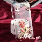 เคส Note 2 Case Samsung Galaxy Note 2 ดอกกุหลาบประดับด้วยเพชรมงกุฎและของจุกจิกอีกเยอะแยะสวยหรูหรามากมาย