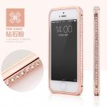 case iphone 4s เคสไอโฟน4 Bumper ขอบเคสโลหะสีทองประดับเพชร เป็นประกายสวยๆ หรูหรา ไฮโซ Tyrant luxury gold diamond imetal frame
