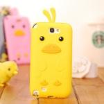 Case Samsung Galaxy Note 2 เคสซิลิโคนเป็ดน้อยน่ารักๆ เคสมือถือราคาถูกขายปลีกขายส่ง