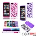 case iphone 5 เคสไอโฟน5 เคสซิลิโคนลายม้าลายสีหวาน silicone protective cover fashion zebra