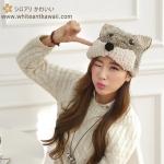 [พร้อมส่ง] C2946 หมวกไหมพรมกันหนาว สุนัขจิ้งจอกน้อย Little Fox Knitted Hat