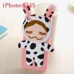 เคส iphone 4s เคสไอโฟน4 เคสซิลิโคน 3D ตัวการ์ตูนน่ารักๆ หลายแบบ