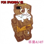 case iphone 4/4s เคสไอโฟน4/4s Candies เคสซิลิโคน 3D หุ่นยนต์แนวๆ