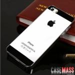 เคสไอโฟน5 เคสพื้นผิวกันรอยขีดข่วนเงาๆ ด้านข้างเป็นโลหะ สวยๆ glossy scratch-resistant glass shell protective