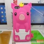 case iphone 5 เคสซิลิโคน 3D น้องหมูน้อยน่ารักใส่มงกุฎ น่ารักสุดๆ