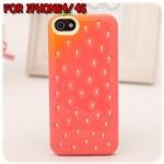 case iphone 4/4s เคสไอโฟน4/4s เคสสตรอเบอรี่น่ารักๆ strawberry silicone 3D