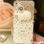 case iphone 5 เคสไอโฟน5 แกะประดับเพชรคริสตัลสวยหรูหราน่ารักๆ The cute the luxury stones lamb
