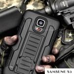 เคสซัมซุง S5 Case Samsung Galaxy S5 เคสกันกระแทก สวยๆ ดุๆ เท่ๆ แนวถึกๆ อึดๆ แนวทหาร เดินป่า ผจญภัย adventure เคสแยกประกอบ 3 ชิ้น ชั้นในเป็นยางซิลิโคนกันกระแทก ครอบด้วยแผ่นพลาสติกอีก1 ชั้น กาง-หุบขาตั้งได้ มีปลอกฝาหน้าแบบสวมสไลด์ ใช้หนีบเข็มขัดเพื่อพกพาได้