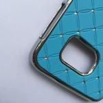 เคส Samsung Galaxy S6 Edge พลาสติกเคลือบโลหะเมทัลลิคประดับคริสตัลสวยงาม ราคาถูก