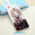 iPhone SE / 5s / 5 ซิลิโคน TPU สกรีนลายการ์ตูนเด็กญิงแสนหวาน แสนน่ารัก ราคาถูก