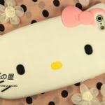 case iphone 5 เคสไอโฟน5 hello kitty 3D คิตตี้ซิลิโคน สีหวาน สวยๆ น่ารักมาก Sweety iphone5 phone shell silicone hello kitty