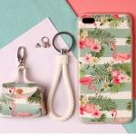 เคส iPhone 6 Plus / 6s Plus (5.5 นิ้ว) พลาสติก TPU ลายนกฟลามิงโกน่ารักมากๆ พร้อมสายคล้องมือและกระเป๋าเก็บสายหูฟัง ราคาถูก
